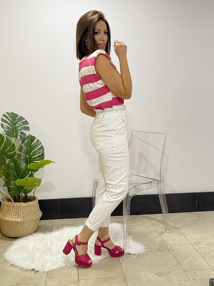 Pantalón mom fit blanco